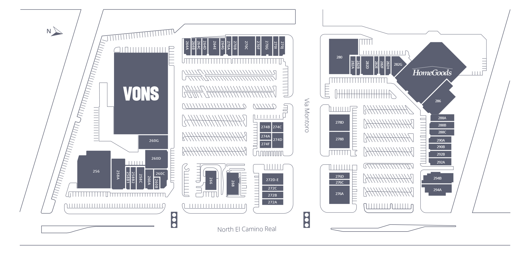 Camino Village Plaza Site Plan
