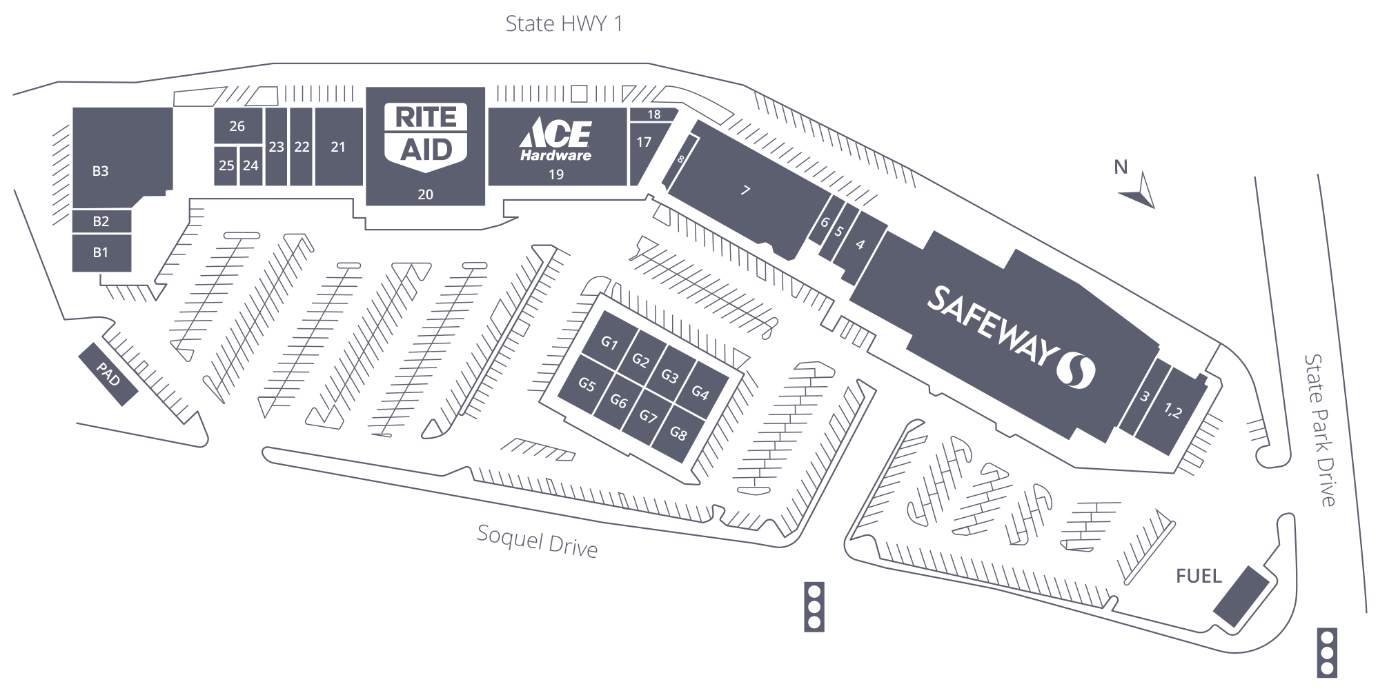 Rancho Del Mar Shopping Center Site Plan
