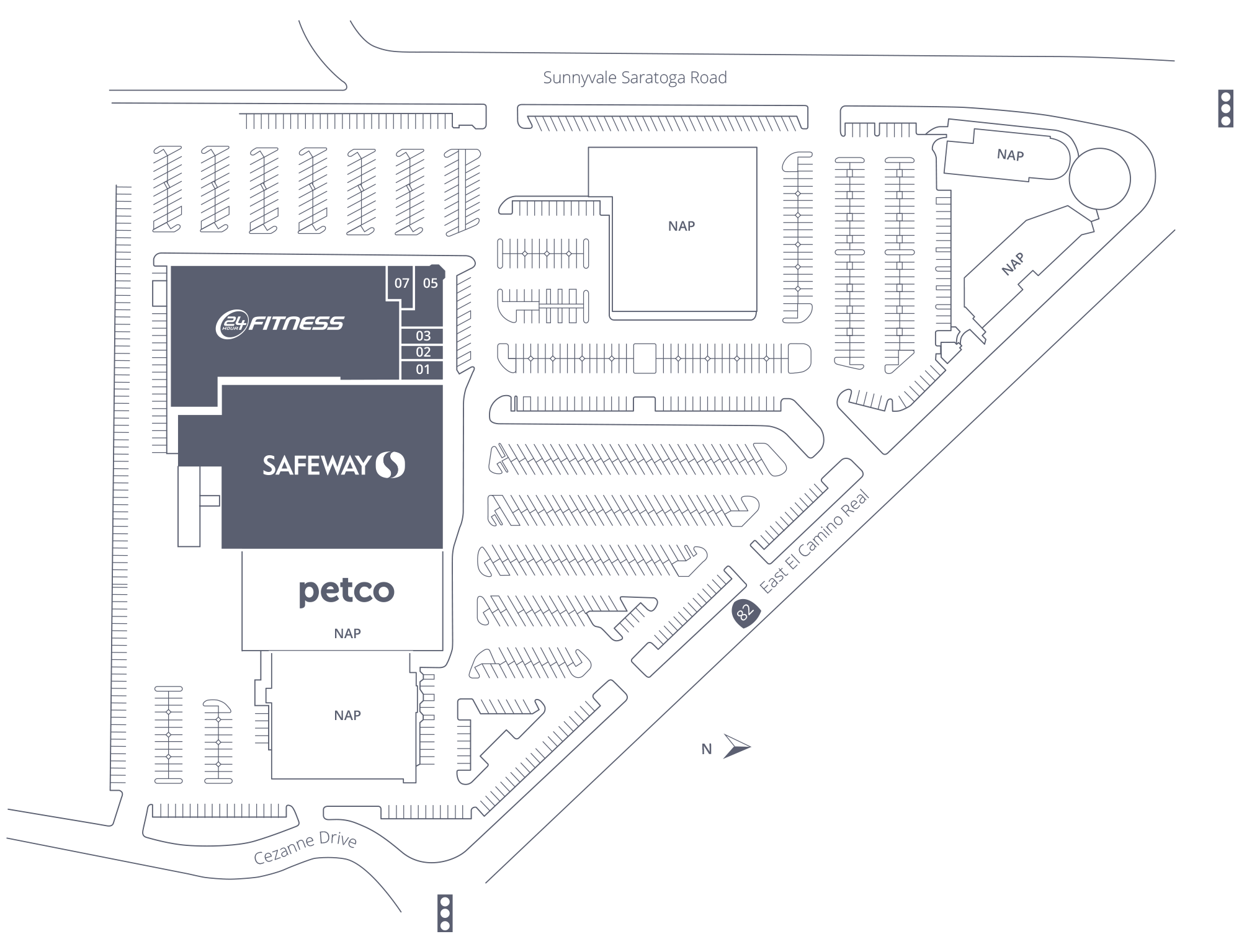 Sunnyvale Shopping Center Site Plan