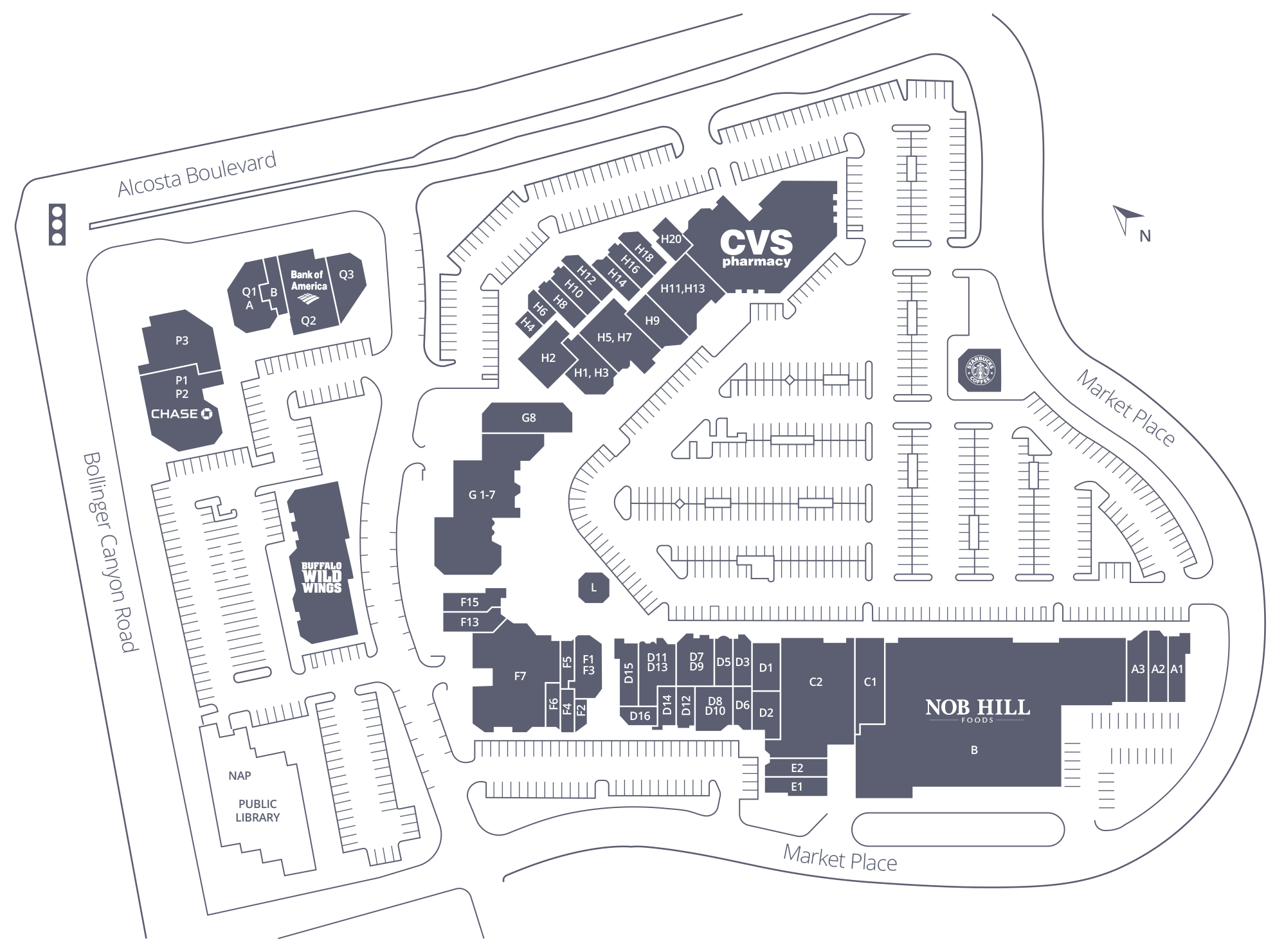 The Marketplace at San Ramon Site Plan