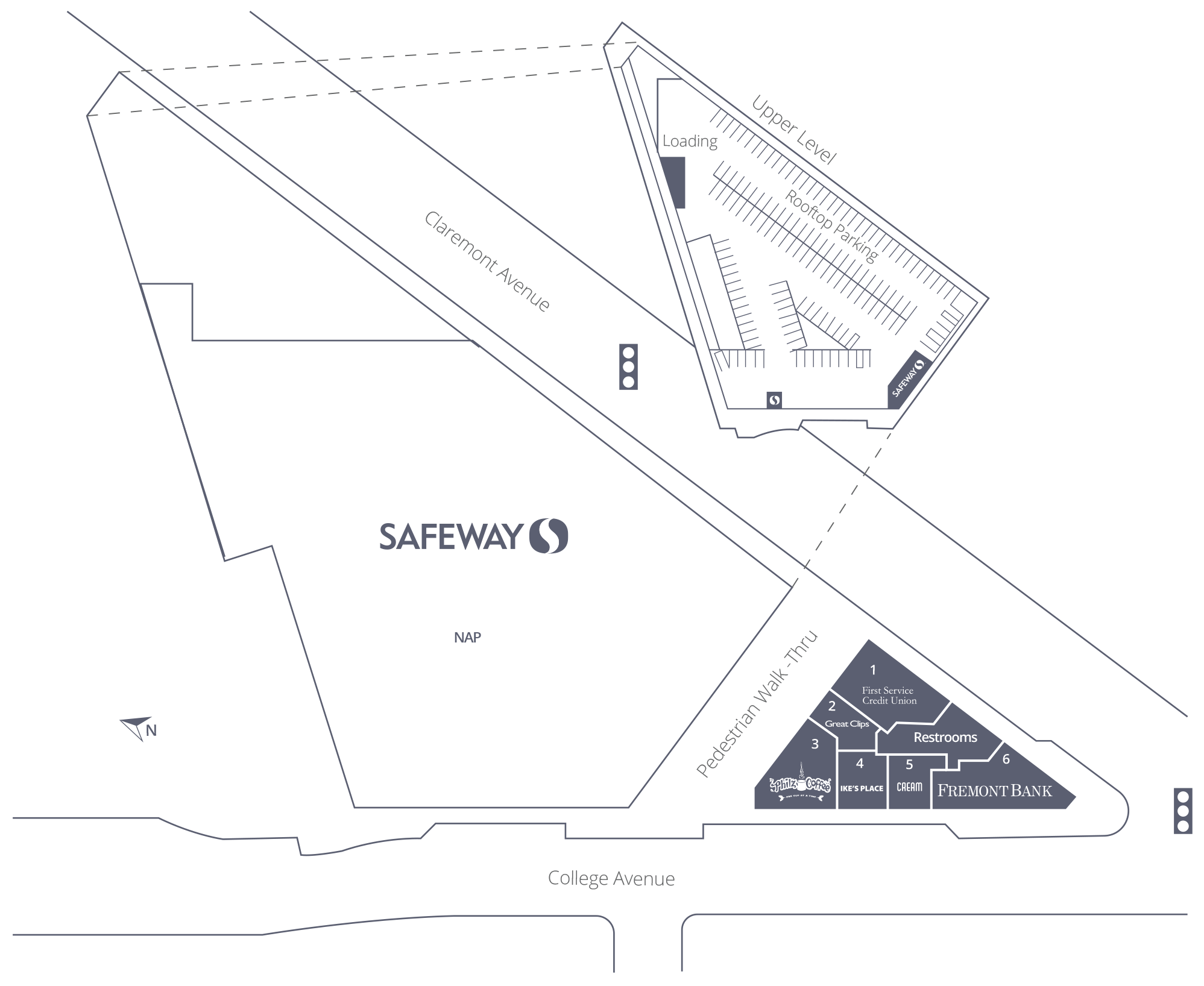 The Shops at College & Claremont Site Plan